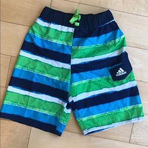 NWOT Adidas Boys Swim Trunks Sz 10-12